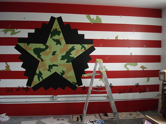 Opt In Chicago, mural in progress