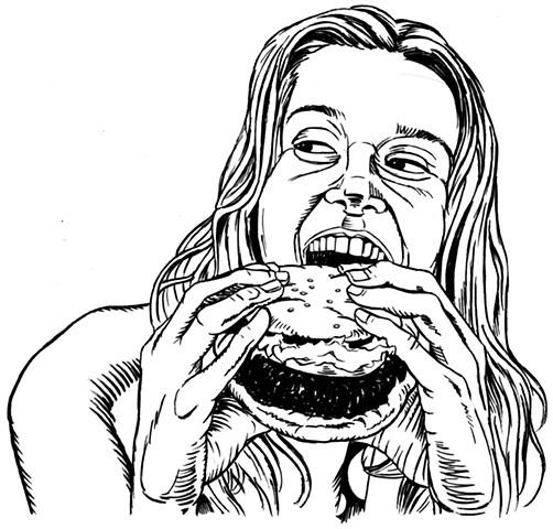 Girl loves burger (study)