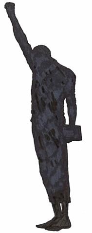 John Carlos (silhouette 1)