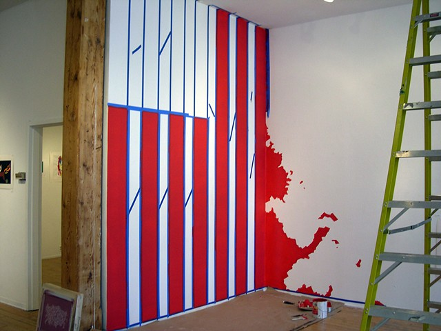 Dissent, mural in progress