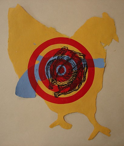 BANG (from series of collaborative works with Andrea Peterson, papermaker)