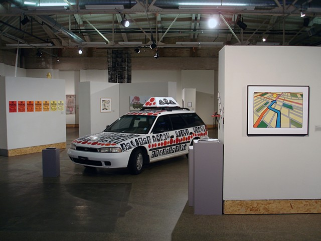 (S)Edition: Prints as Activism, gallery view (Lisa Bulawsky, Christopher Cannon)