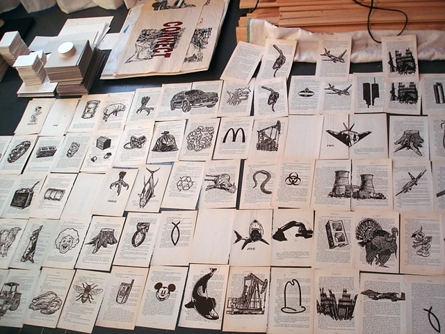 Ishmael, printed pages in progress
