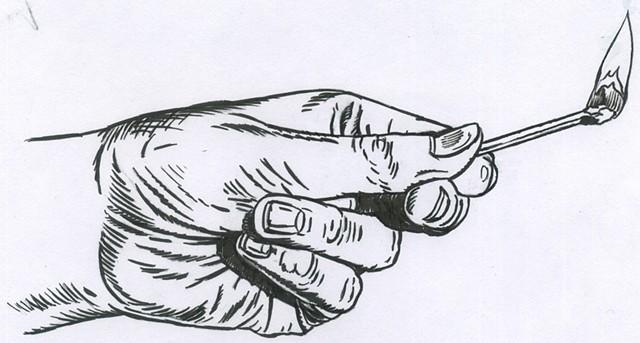 Match hand (study)