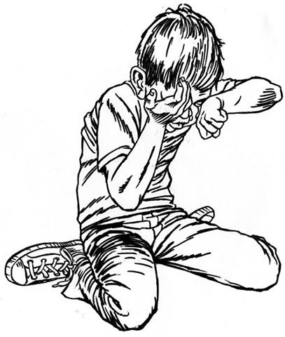 Crying boy (study)