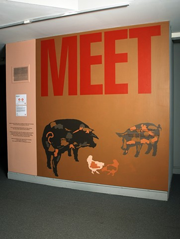MEET YOUR MEAT (MEET wall detail)