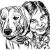 Girl loves dog (study)