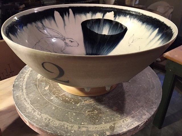 Rabbit bowl in progress