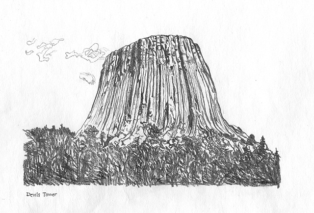 The Devil's Tower, WY.