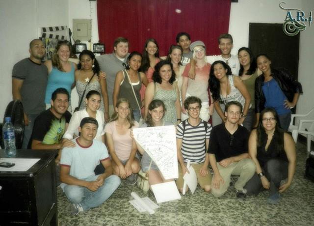 """Video crew in Esteli, behind the scenes of """"Música Por el Pueblo."""""""