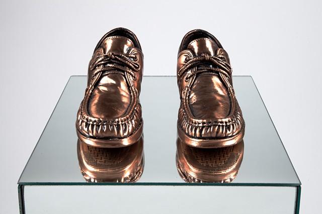 Bronzed SAS Shoes (detail)