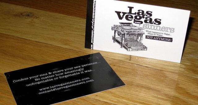 Custom Business Card Design: LasVegas Sinners