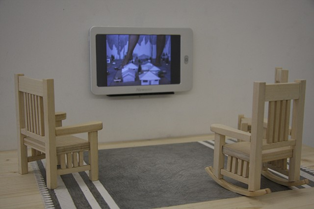 video installation based on the Friendly Giant