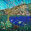 Hummingbird Wars, 2011 Acrylic, Ink, Marker, and Spraypaint on Canvas by Nicholas Bohac American | San Francisco, CA America 2012 Collection (c) 2011- Nicholas Bohac  Signal From San Francisco Two Paintings by Nicholas Bohac