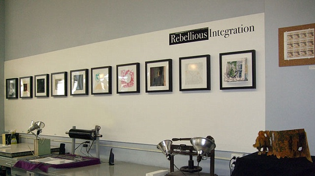 Rebellious Integration Exhibition at Chicago Printmakers Collaborative, March 14-April 25, 2009 Gallery View