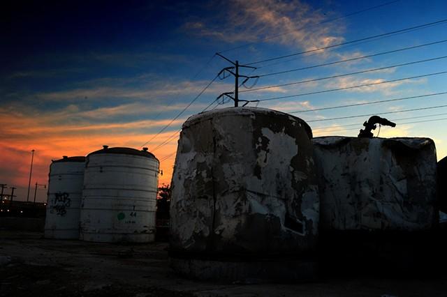 Ashland Ave, chicago, Sunset, Silo, Abandoned