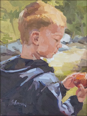 The Boy and the Apple