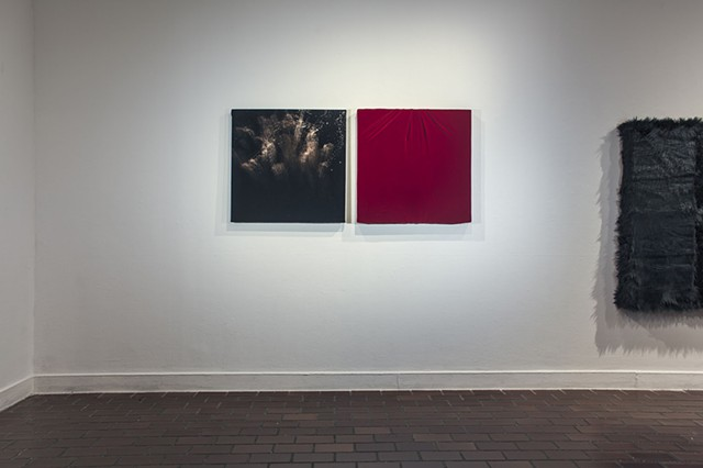 Flogged no. 1 and Marie Antoinette, installation view