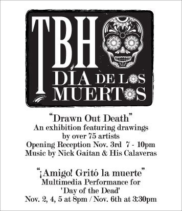 Drawn Out Death, International Exhibition, Talento Bilingue de Houston, Texas.  Curated by Angel Quesada and Rolando. Reyna  October-November