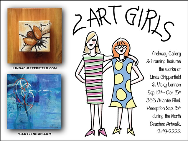 2 Art Girls show in Atlantic Beach