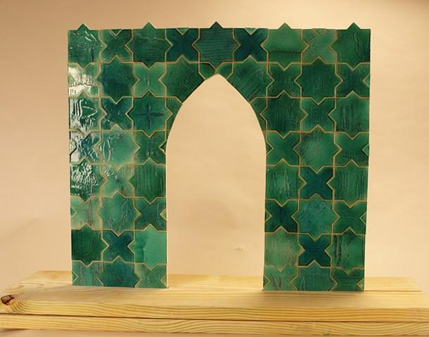Ceramics, Khayyam, Arch, Tile, Persian