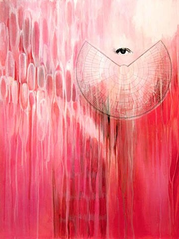 river of Consciousness, consciousness, Mapping, Flow, Pink, painting, eye, chart, wings