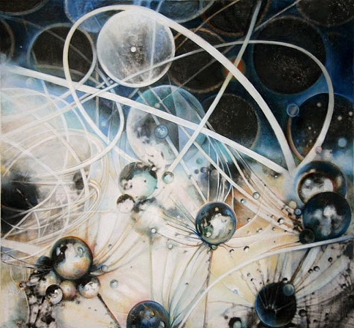 CERN, Particle Collision, Painting, Harmonics, Light, Structure, Science, Metaphysics, physics, astrophysics, outerspace, orbs, Energy, Nature