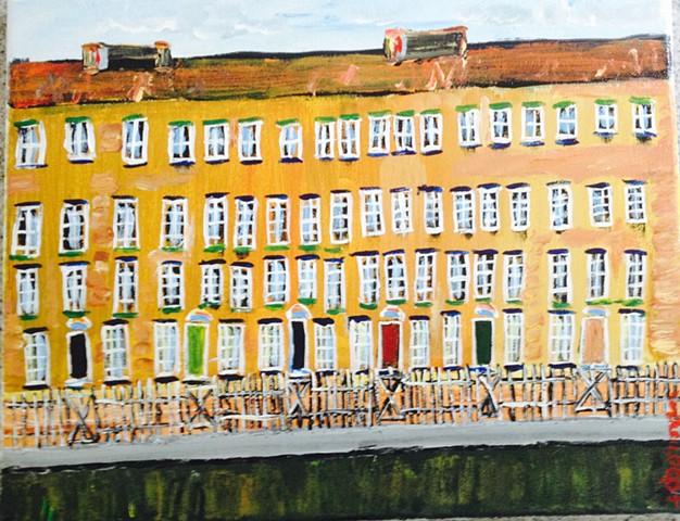 18th Century houses along the Grand Canal, Dublin