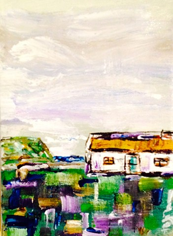 Thatched Cottage beside the Sea