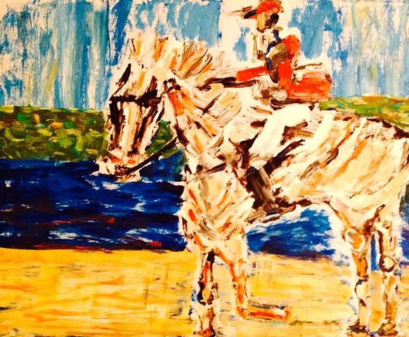 Horse and Rider at the Water's Edge