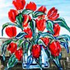 Red Tulips on the Zider Zee
