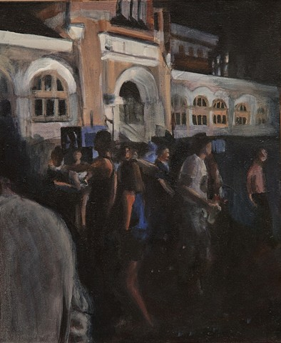 Michelle Hyland painted this picture after the Laneway Festival