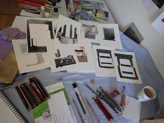 Work in Progress, drawings, experiments, michelle hyland, artist in residence