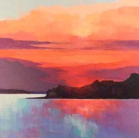 Sunset over Hull Bay.