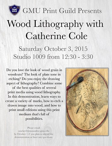 Wood Lithography Demo Moved to November 7th