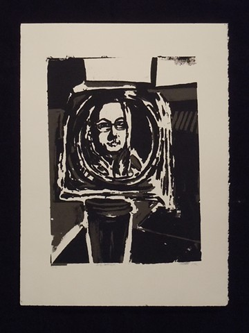 Self Portrait. Serigraph. Screenprint. 2009.