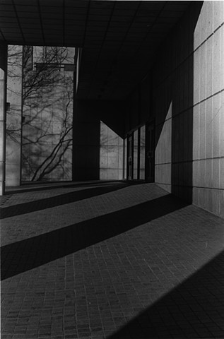"Angular Shadows at List Art Center Silver Gelatin Print January 2013 9"" x 6"""