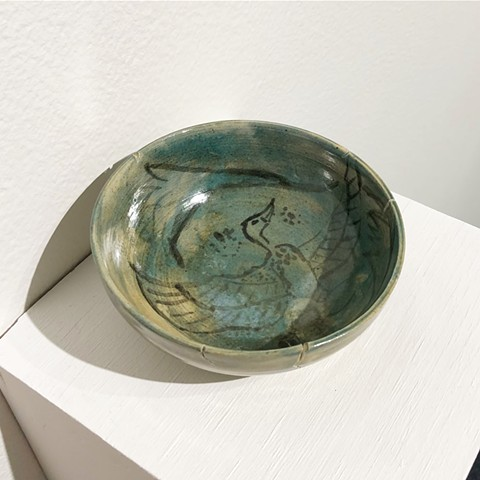 Bowl Egypt New Kingdom, XVII-XX Dynasties, 1550-1069 BCE Faience