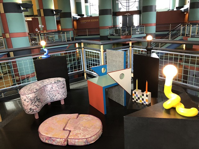 Installation View in Duncan Hall at Rice University