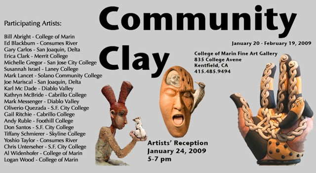 Community of Clay College of Marin Art Gallery Marin, Ca
