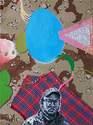Mixed Media Fabric Painting