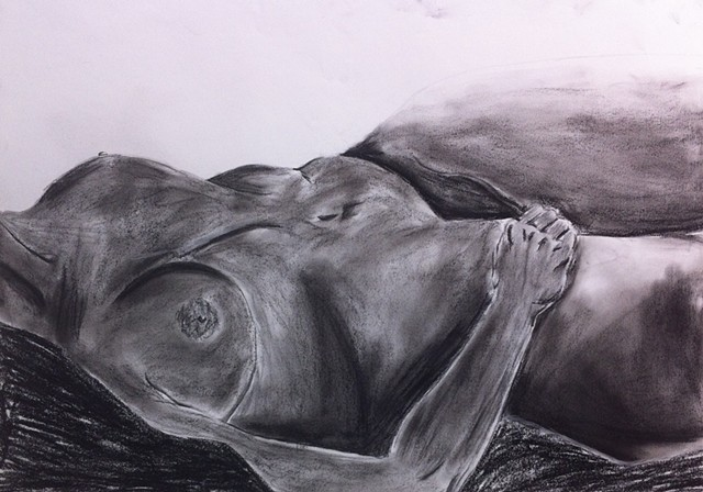 Recling Figure | Conte & Charcoal