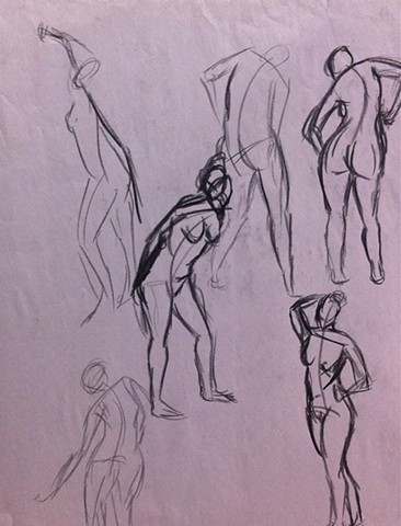 Five Minute Gestures | Charcoal