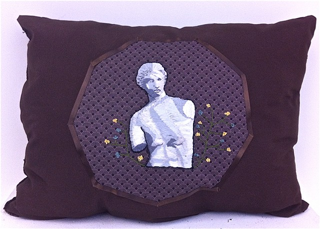 Greek Figure | Embroidered Pillow