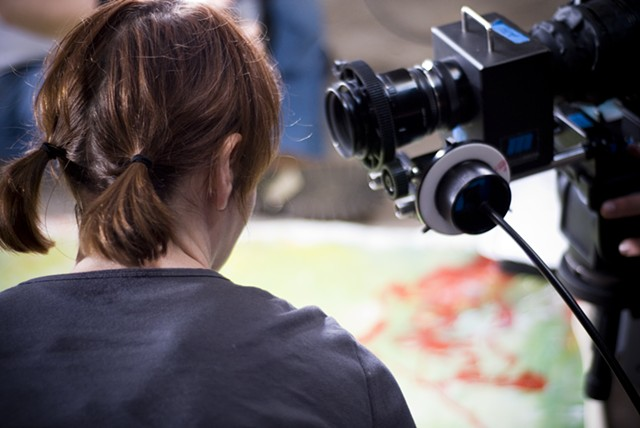 2009 promotional commercial shooting for Acadiana Center for the Arts