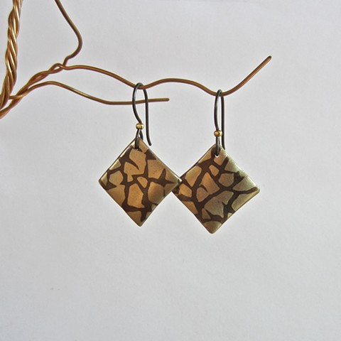 Square Inlay earrings