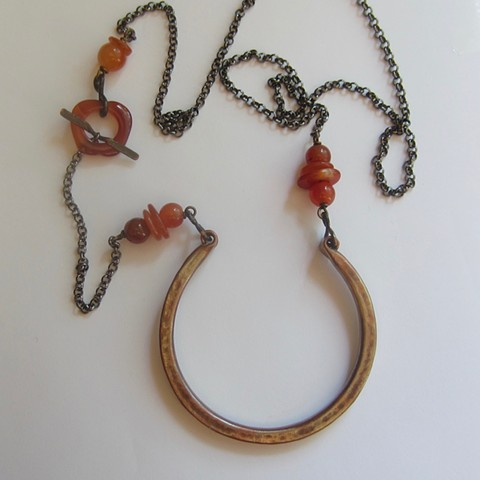 Horseshoe and Agate necklace