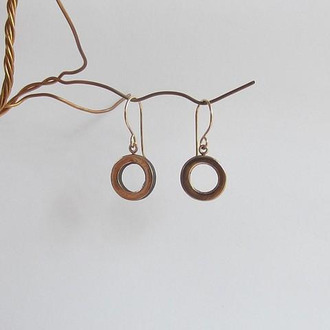 Hollow Circle earrings