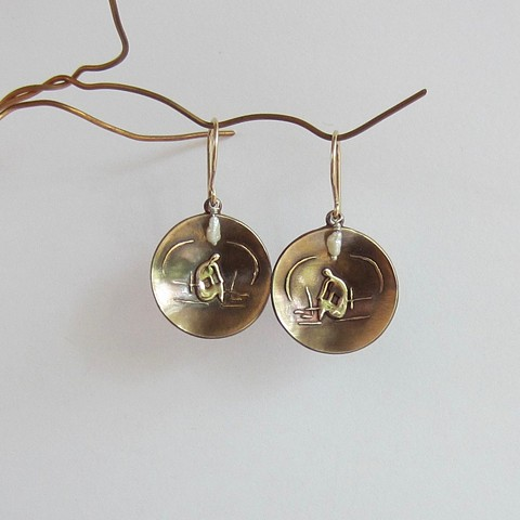 Matisse Round earrings with Pearls