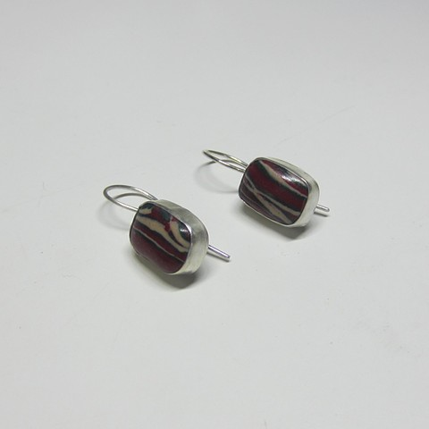Silver and Polymer earrings